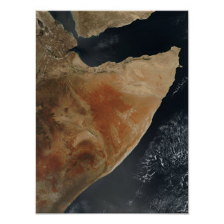 Satellite view of the Horn of Africa Poster