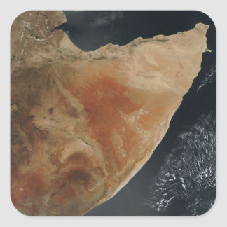 Satellite view of the Horn of Africa Square Sticker