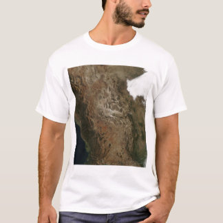 Satellite view of the landscape of central Mexi T-Shirt