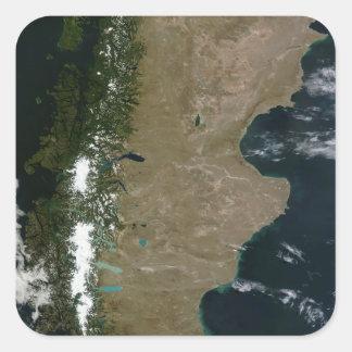 Satellite view of the Patagonia region Square Sticker