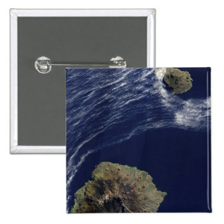Satellite view of the Prince Edward Islands 2 Inch Square Button