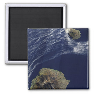 Satellite view of the Prince Edward Islands 2 Inch Square Magnet