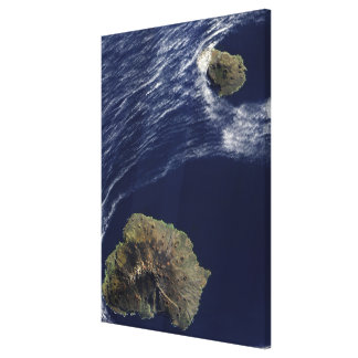 Satellite view of the Prince Edward Islands Canvas Print