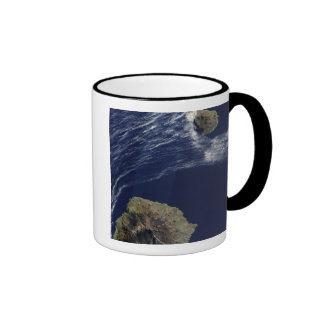 Satellite view of the Prince Edward Islands Ringer Coffee Mug