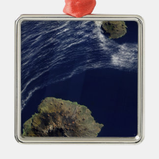 Satellite view of the Prince Edward Islands Square Metal Christmas Ornament