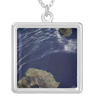 Satellite view of the Prince Edward Islands Square Pendant Necklace