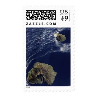Satellite view of the Prince Edward Islands Stamp