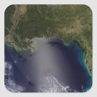 Satellite view of the Southeastern United State 2 Square Sticker