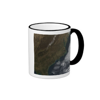 Satellite view of the Southeastern United State Ringer Coffee Mug