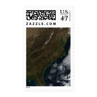 Satellite view of the Southeastern United State Postage