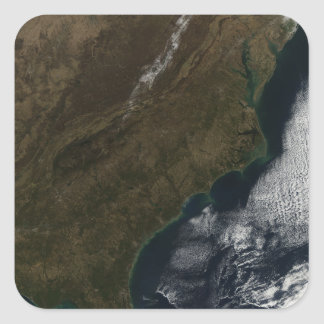 Satellite view of the Southeastern United State Square Sticker