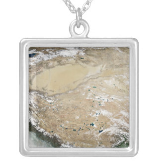 Satellite view of the Tibetan Plateau Personalized Necklace