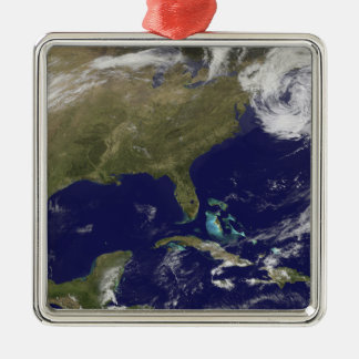 Satellite view of the United States East Coast Metal Ornament