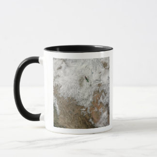 Satellite view of the western United States Mug