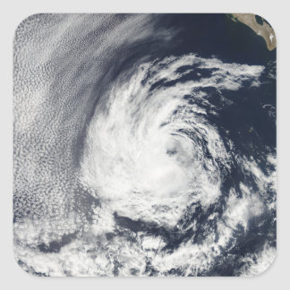 Satellite view of Tropical Depression Blas Square Sticker