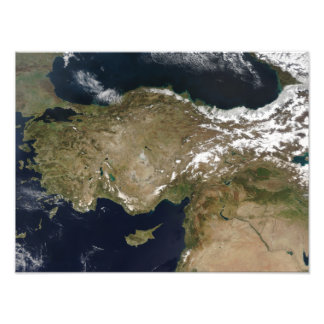Satellite view of Turkey Photo Print