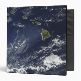 Satellite view of volcanic fog 3 ring binder