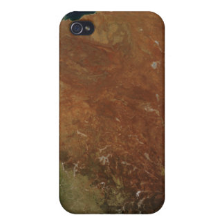 Satellite view of Western Australia iPhone 4 Cover