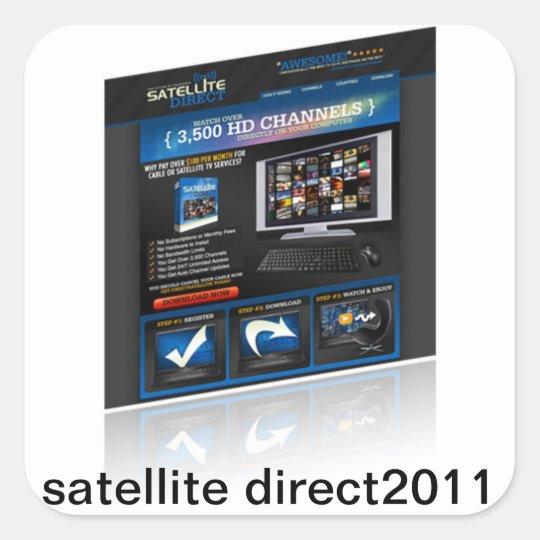 SatelliteDirect2011 Square Sticker