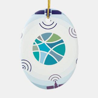 Satellites Ceramic Ornament