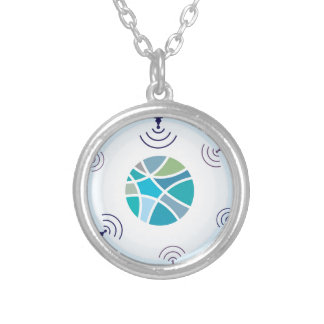 Satellites Silver Plated Necklace