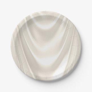 Satén de marfil platos de papel
