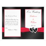 Satén negro Pleasts con los corazones que casan pr Tarjeta Publicitaria