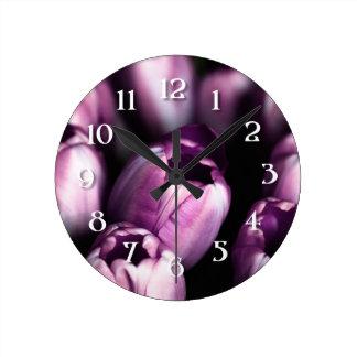 Satén púrpura reloj