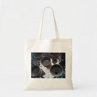 Satern V Rocket Nozzles Budget Tote Bag