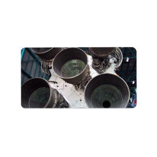 Satern V Rocket Nozzles Labels