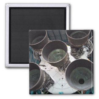 Satern V Rocket Nozzles Fridge Magnet