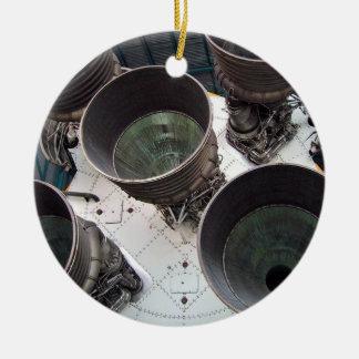 Satern V Rocket Nozzles Christmas Tree Ornaments