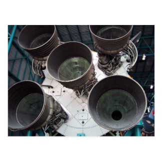 Satern V Rocket Nozzles Post Card