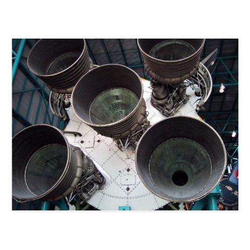 Satern V Rocket Nozzles Postcard