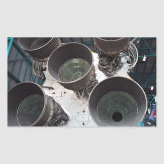 Satern V Rocket Nozzles Rectangle Stickers