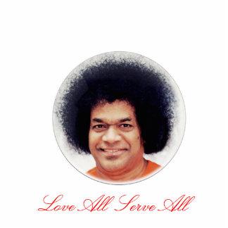 Sathya Sai Baba Photo Sculpture Love All Serve All