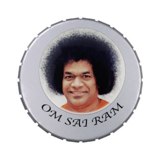 Sathya Sai Baba Vibuthi Snip Snap Tin Jelly Belly Candy Tins