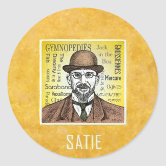 Satie Classic Round Sticker