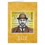 Satie greetings card