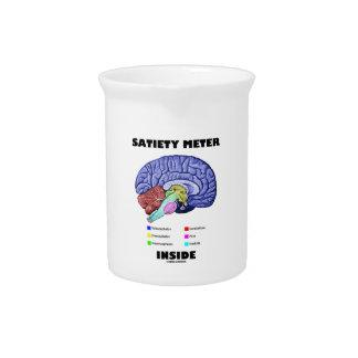 Satiety Meter Inside Anatomical Brain Humor Drink Pitcher