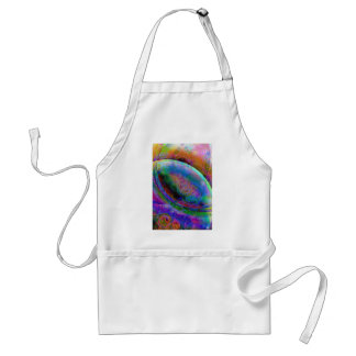 Satin abstract images adult apron
