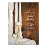 """Satin and Horse Bit Country Birthday Party Invite 5"""" X 7"""" Invitation Card"""