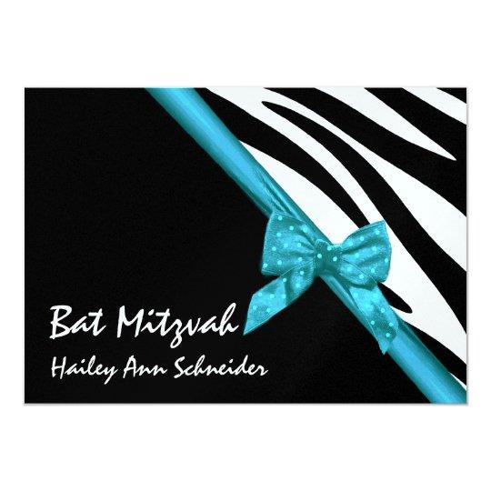 Satin and Stripes Bat Mitzvah Card