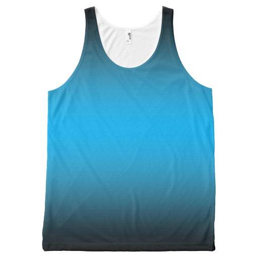 """Satin Blue"" Design Unisex Tank top All-Over Print Tank Top Tank Tops, Tanktops Shirts"