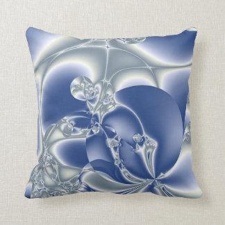 Satin Blue Throw Pillow