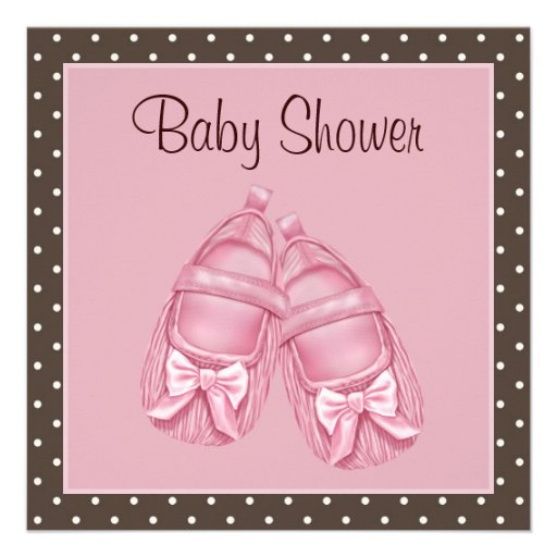 adorable pink polka dot baby pink and brown baby girl shower