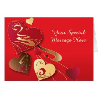 Satin Candy Hearts Card