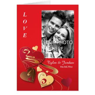 Satin Candy Hearts Photo Valentine Card