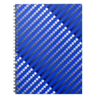 Satin dots - cobalt blue and pewter notebooks