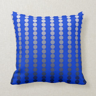 Satin dots - cobalt blue and pewter throw pillow